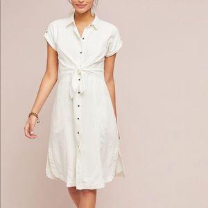 NWOT Anthropologie Sz 12 Buttondown Shirt Dress